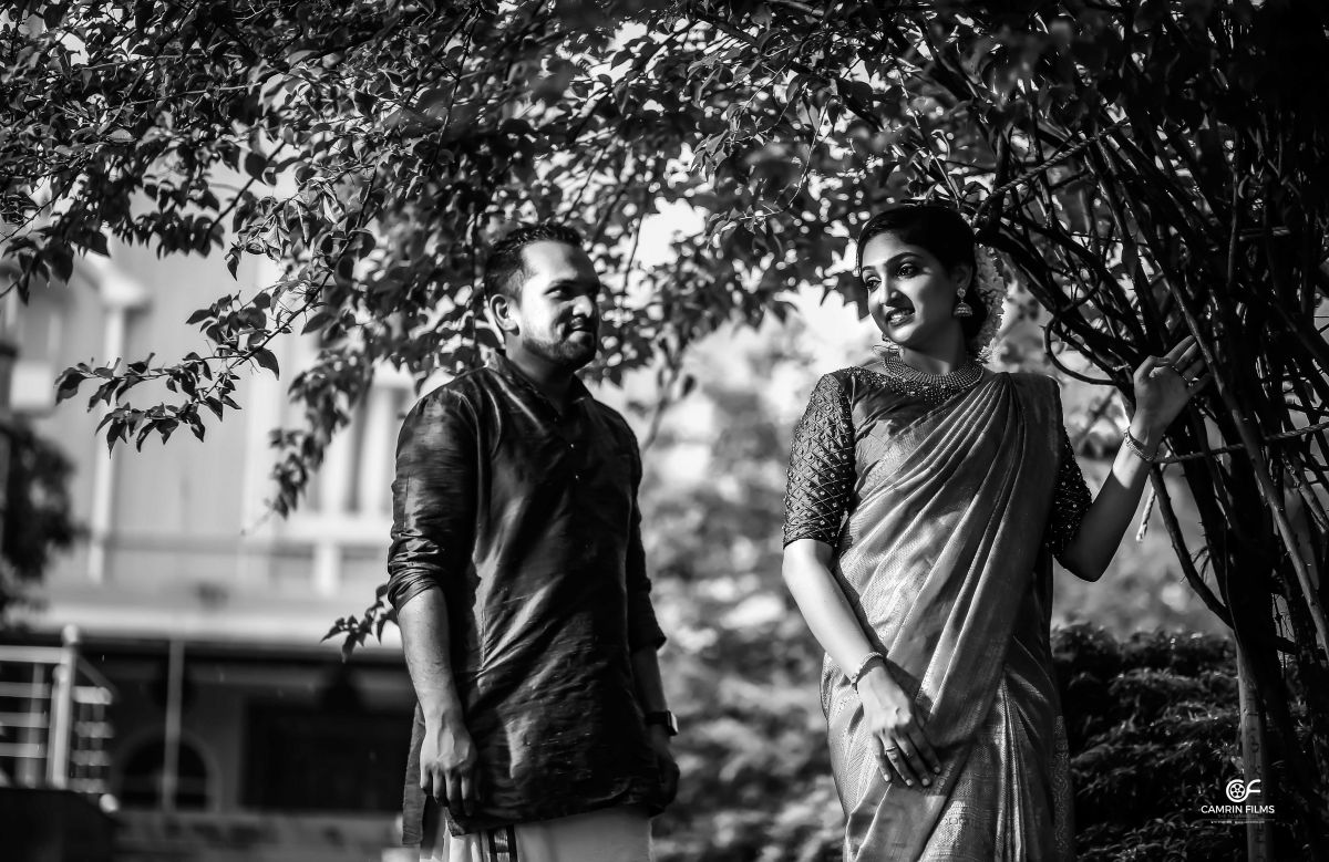 Kerala Bride And Groom Black And White Photos
