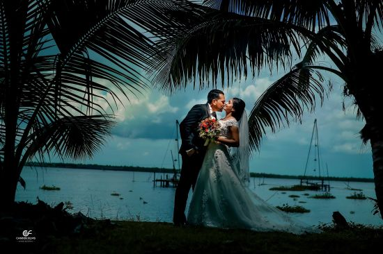 Aerial Wedding photography in Kerala