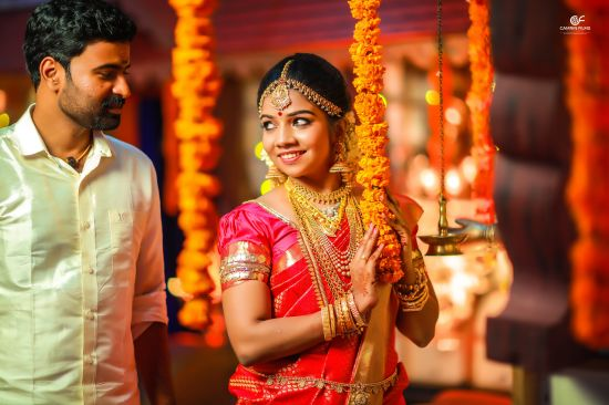 Hindu Engagement photography in Kerala